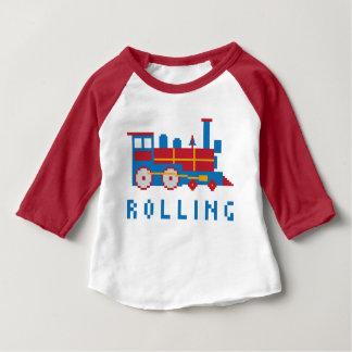 Bunte Pixel-Lokomotive Shirts