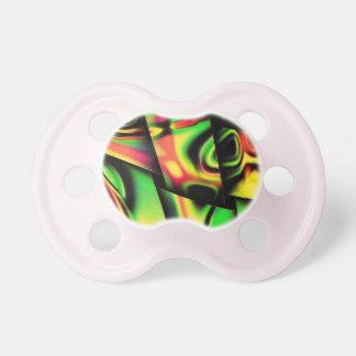 Bunte psychedelische Bänder Baby Schnuller
