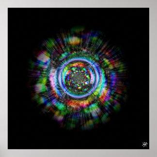 Bunte psychedelische Skizze eines Auges Poster