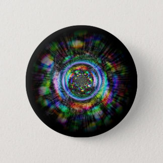 Bunte psychedelische Skizze eines Auges Runder Button 5,1 Cm
