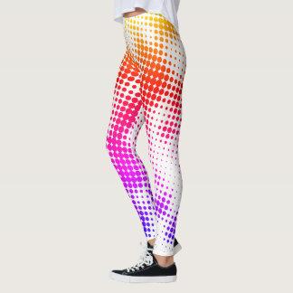 Bunte Punkt-Muster-Gamaschen Leggings