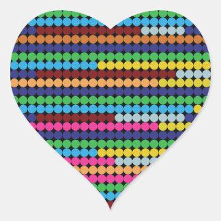 Bunte Punkte Herz-Aufkleber