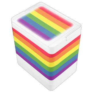 Bunte Regenbogen-Flaggen-Streifen Kühlbox