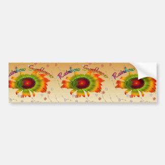 Bunte Regenbogen-Sonnenblume-Gruß-Karte Autoaufkleber