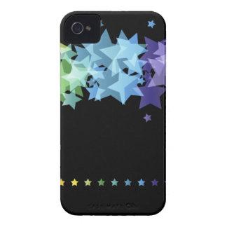 Bunte Regenbogen-Sterne iPhone 4 Case-Mate Hülle
