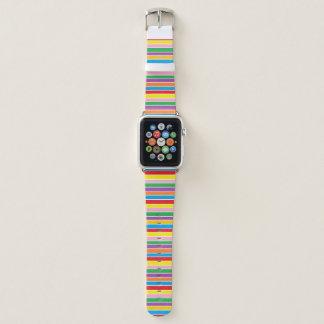 Bunte Regenbogen-Streifen Apple Watch Armband