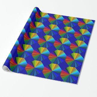 Bunte Regenbogen-Turbulenz Geschenkpapier