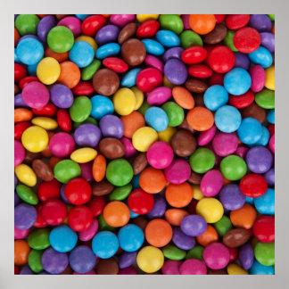 Bunte Regenbogensüßigkeits-Süßigkeiten Plakatdrucke