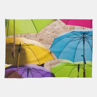Bunte Regenschirme Handtuch