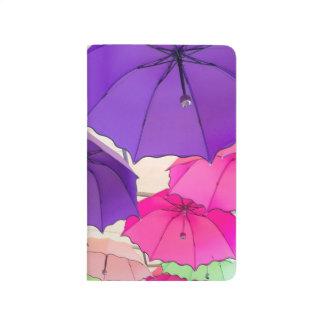 Bunte Regenschirme Taschennotizbuch