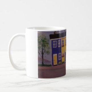 Bunte Reihen-Häuser Kaffeetasse