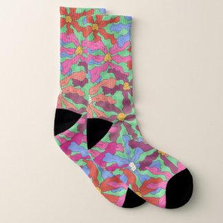 Bunte Retro Blumendruck-Socken Socken