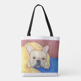 Bunte SahneTasche der französischen Bulldogge Tasche