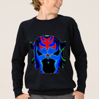 Bunte Schädelgeister Halloween-Sammlung Sweatshirt
