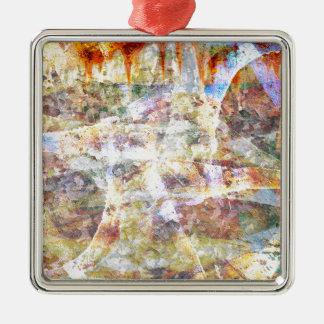 Bunte Schmutz-Graffiti Silbernes Ornament