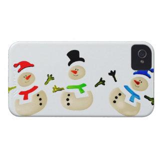 Bunte Schneemann-Weihnachtsparade iPhone 4 Cover