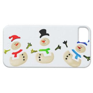 Bunte Schneemann-Weihnachtsparade iPhone 5 Hülle