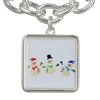 Bunte Schneemann-Weihnachtsparade Armband