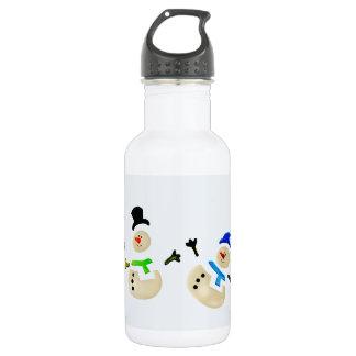 Bunte Schneemann-Weihnachtsparade Trinkflaschen
