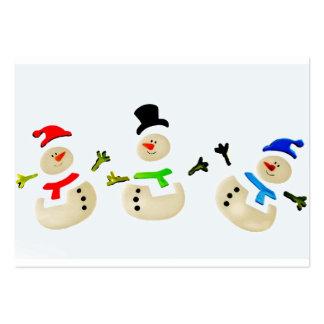 Bunte Schneemann-Weihnachtsparade Mini-Visitenkarten
