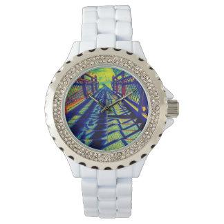 Bunte schrittweise Rhinestone-Uhr Uhren