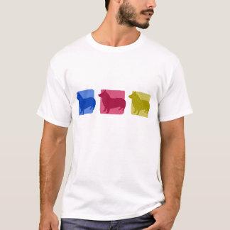 Bunte Schwede Vallhund Silhouetten T-Shirt