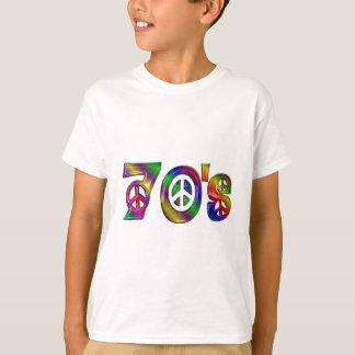 Bunte Siebzigerjahre T-Shirt