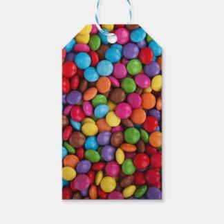 Bunte Skittlessüßigkeit Geschenkanhänger