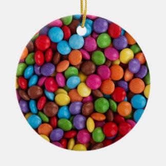 Bunte Skittlessüßigkeit Keramik Ornament
