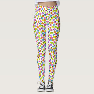 Bunte Smiley Leggings
