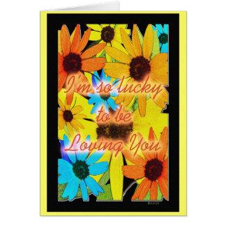 Bunte Sonnenblumen Karte