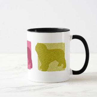 Bunte spanische Wasser-HundeSilhouetten Tasse