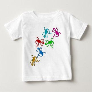 Bunte, spielerische Eidechsen Baby T-shirt