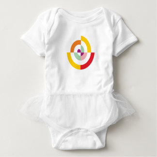 Bunte Spirale Baby Strampler