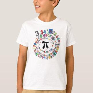 Bunte Spirale der Stellen PUs T-Shirt