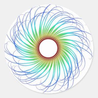 Bunte Spirale Runder Aufkleber