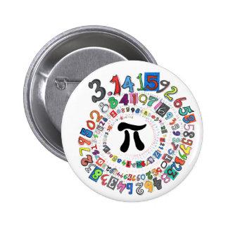Bunte Spirale von PU berechnet Runder Button 5,7 Cm