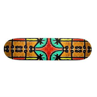 Bunte Stammes- Art-geometrisches Muster 20,1 Cm Skateboard Deck