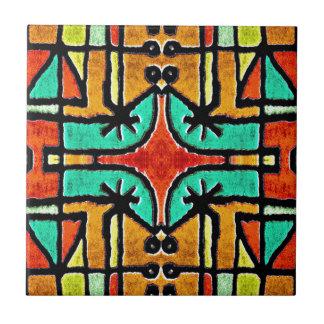 Bunte Stammes- Art-geometrisches Muster Keramikfliese
