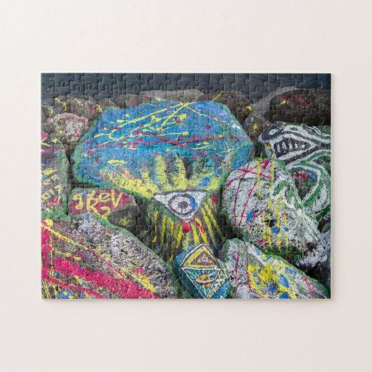 bunte steine puzzle