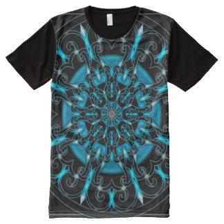 Bunte sternförmige Indie Kunst-Mandala T-Shirt Mit Komplett Bedruckbarer Vorderseite