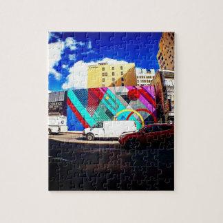 Bunte Straßen-Kunst Puzzle