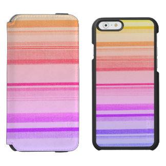Bunte Streifen-Linien Incipio Watson™ iPhone 6 Geldbörsen Hülle