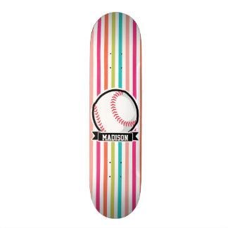 Bunte Streifen; Personalisierter Softball Skateboard Bretter