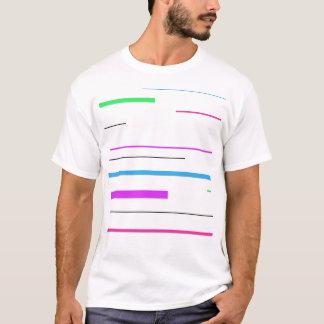 Bunte Streifen T-Shirt