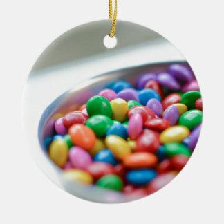 bunte Süßigkeit Keramik Ornament