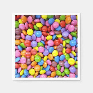 Bunte Süßigkeit Papierservietten