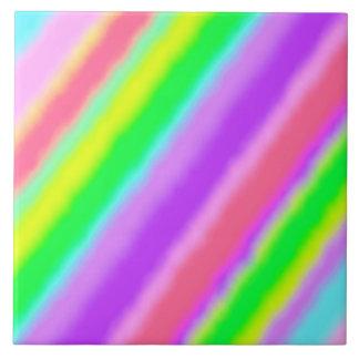 Bunte Süßigkeit Stripes Ombre Schatten Große Quadratische Fliese