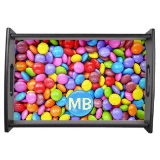 Bunte Süßigkeiten personifizieren Foto Tablett