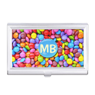 Bunte Süßigkeiten personifizieren Foto Visitenkarten-Schatulle